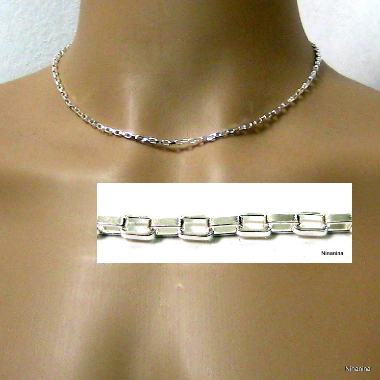 af3a021aa9406 Chaine homme plaqué argent ... NINANINA ...