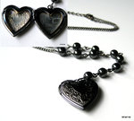 Collier coeur noir porte-photo