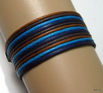 Bracelet wrap cordon 4 couleurs