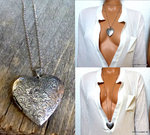 Collier long - Sautoir coeur porte photo