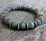 Bracelet homme perles turquoises africaines