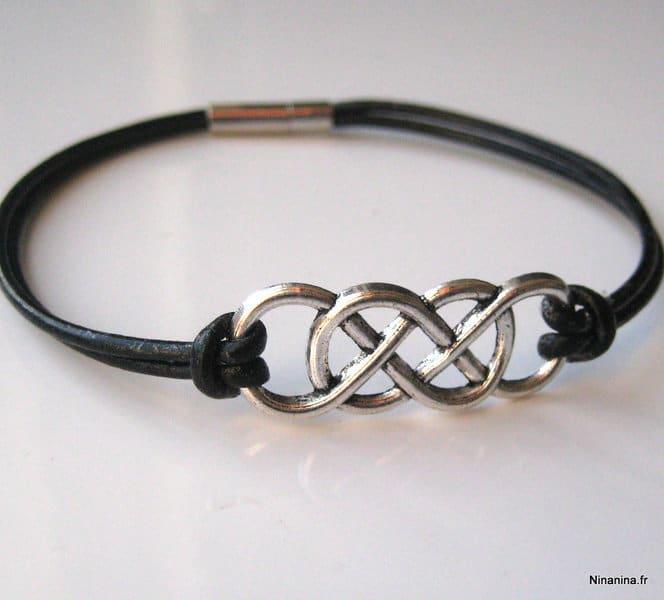 bracelet homme double infini