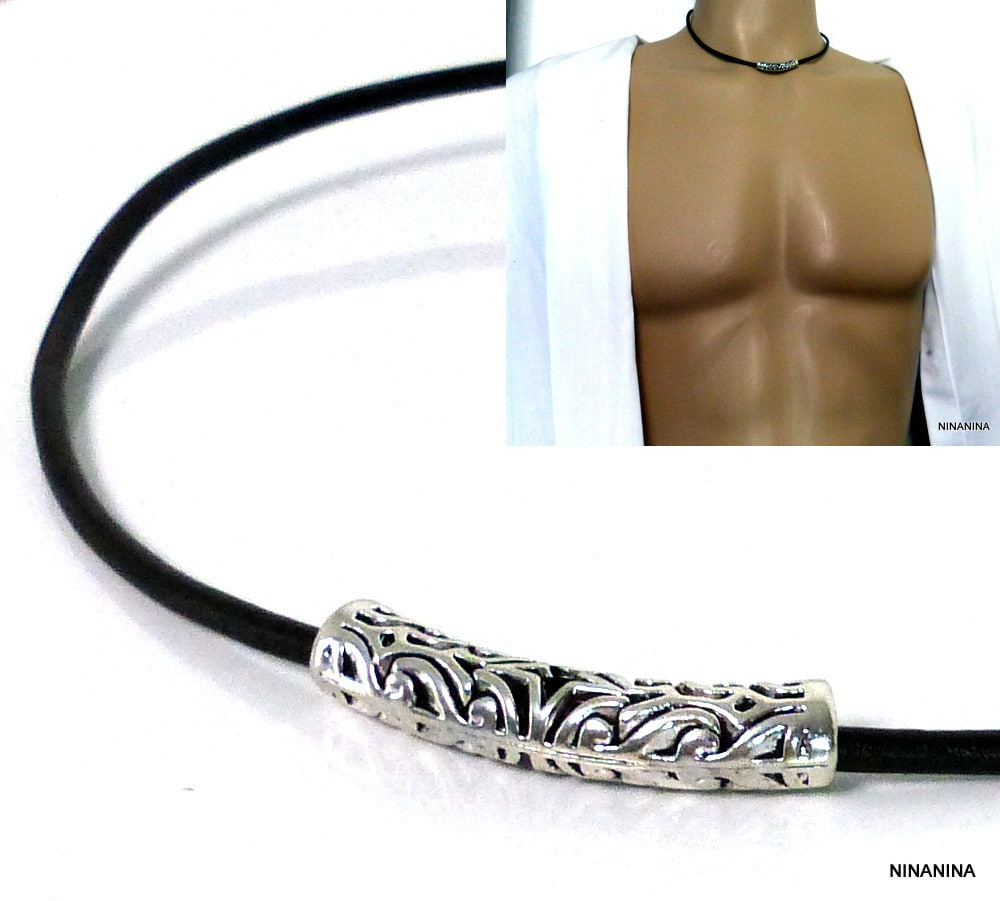 collier tube homme